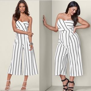 Pants - Chic Striped Jumpsuit